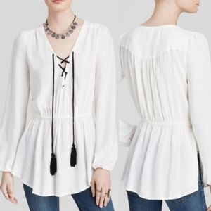 Free People Wildest Moment Boho White Tunic Top XS